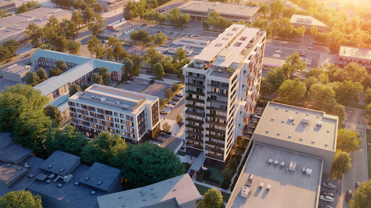North Douglas Street's transformation into high density residential corridor begins with mass timber-built Tresah condos