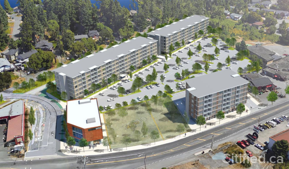 Offices, apartments and Glen Lake Rd. realignment planned as part of Sooke Rd. dev