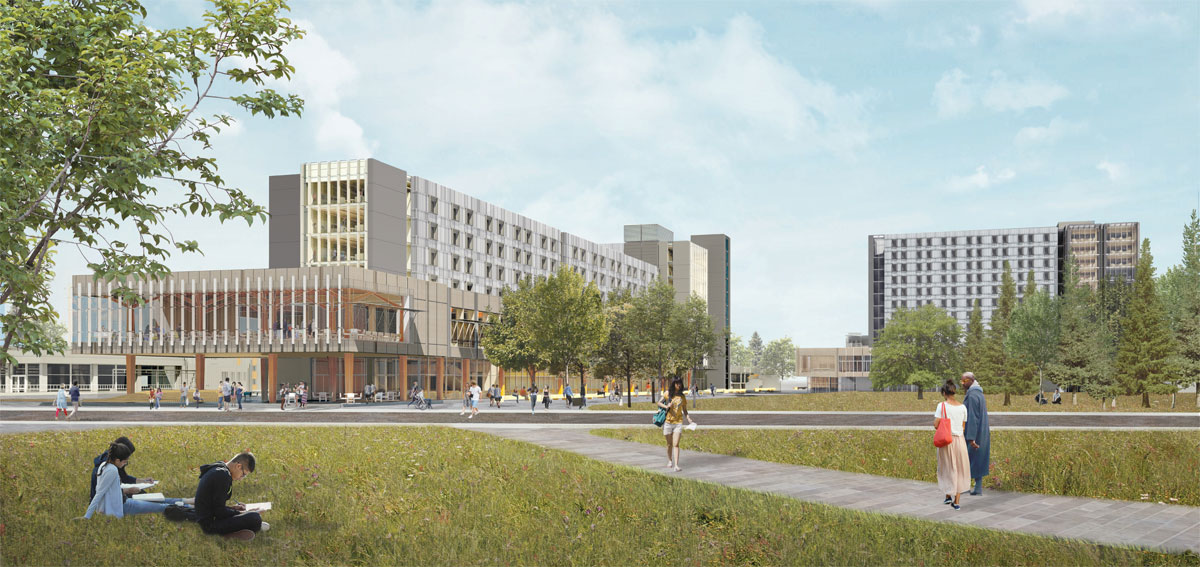 UVic to fast-track $201 million construction of new dormitory, dining and classroom buildings