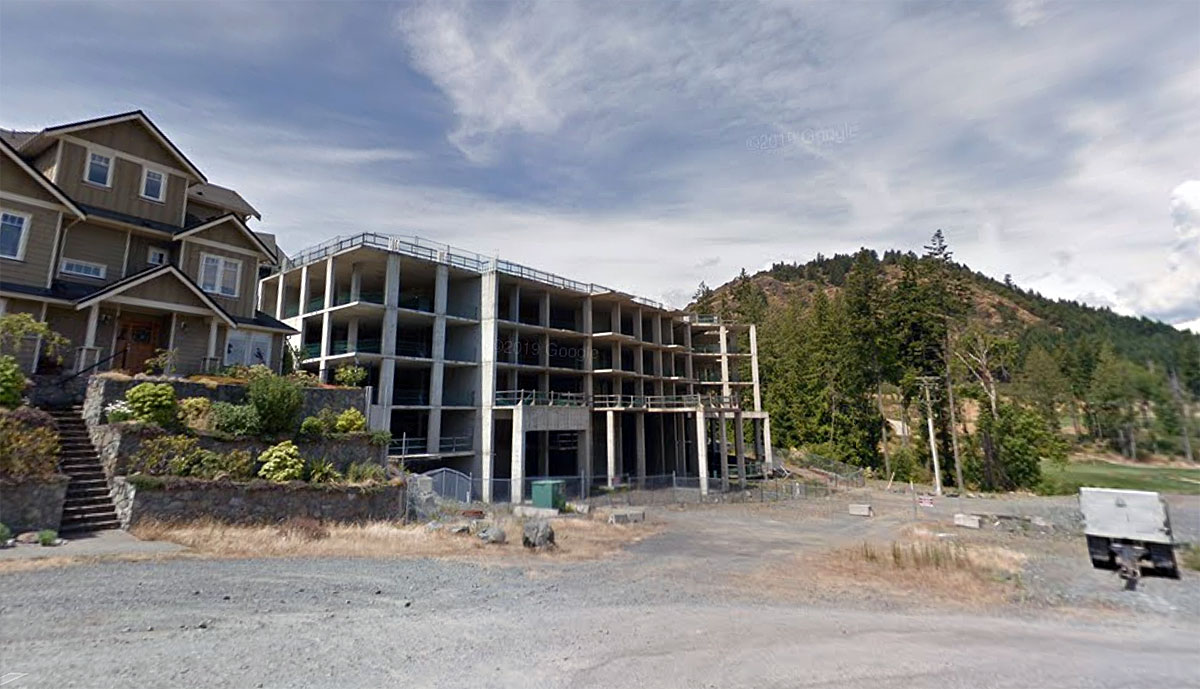 Work resumes on stalled condo tower atop Langford's Bear Mountain; 13-storey Elevate condo scheduled for 2022 completion