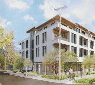 Mixed-use residential and retail complex pitched for Cordova Bay gas station property