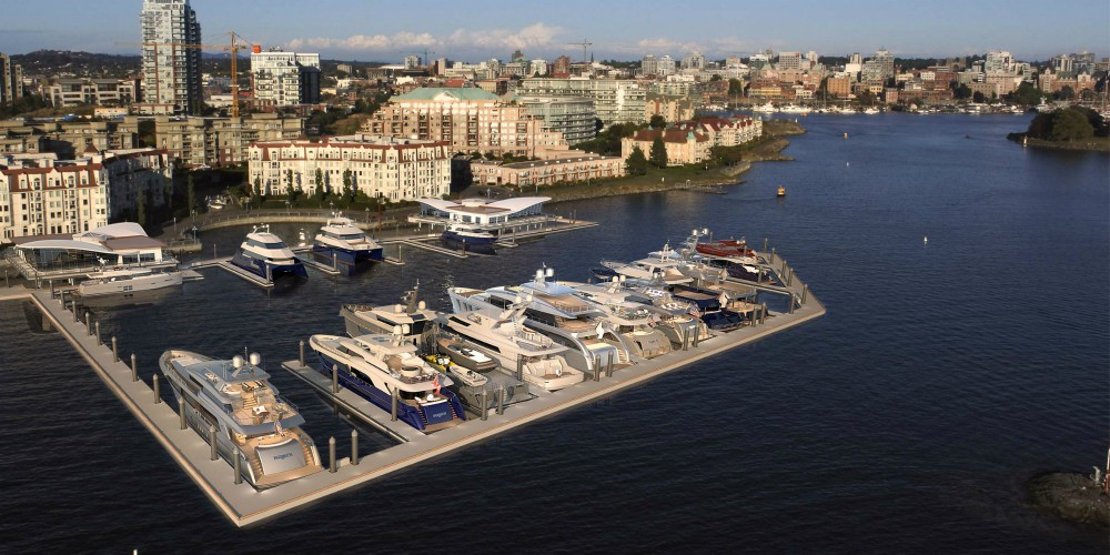 Construction of Vic West's luxury Inner Harbour marina behind schedule