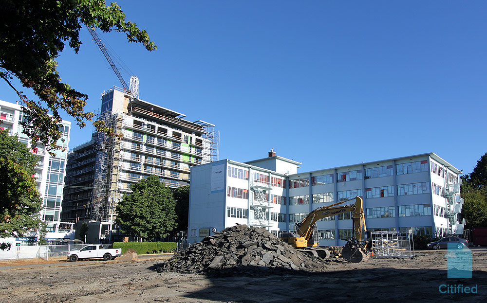 Excavation begins at The Wade condo development in Harris Green