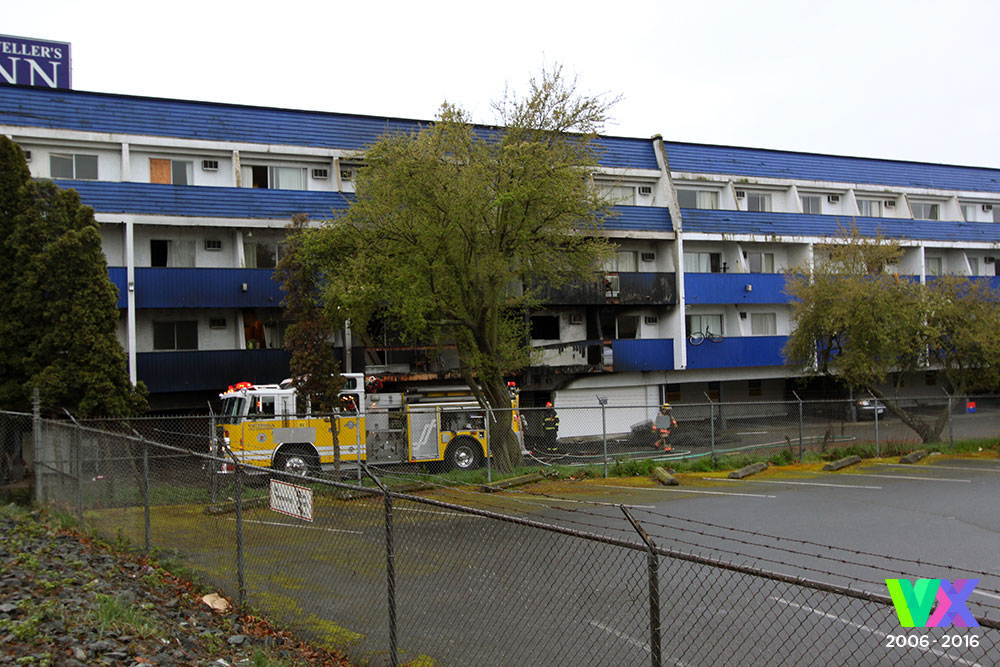Fire damaged Traveller's Inn Motel-turned-rental complex listed for sale at just below $20M