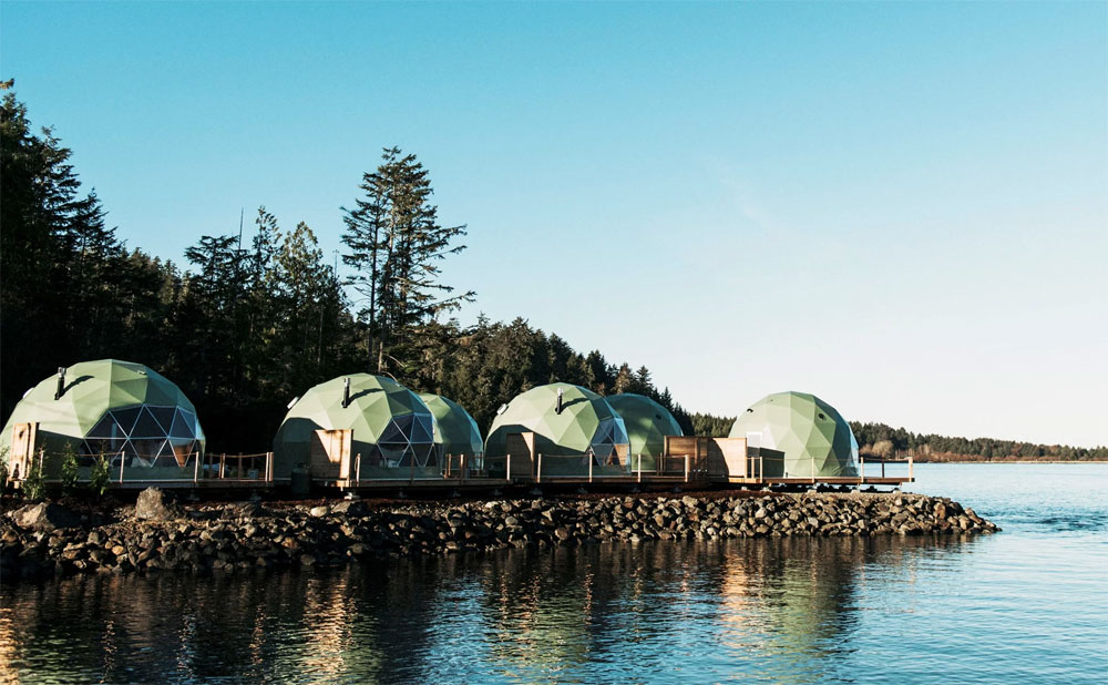 Tofino's geodesic glamping domes offer unique lodging at Island's surfing hot-spot