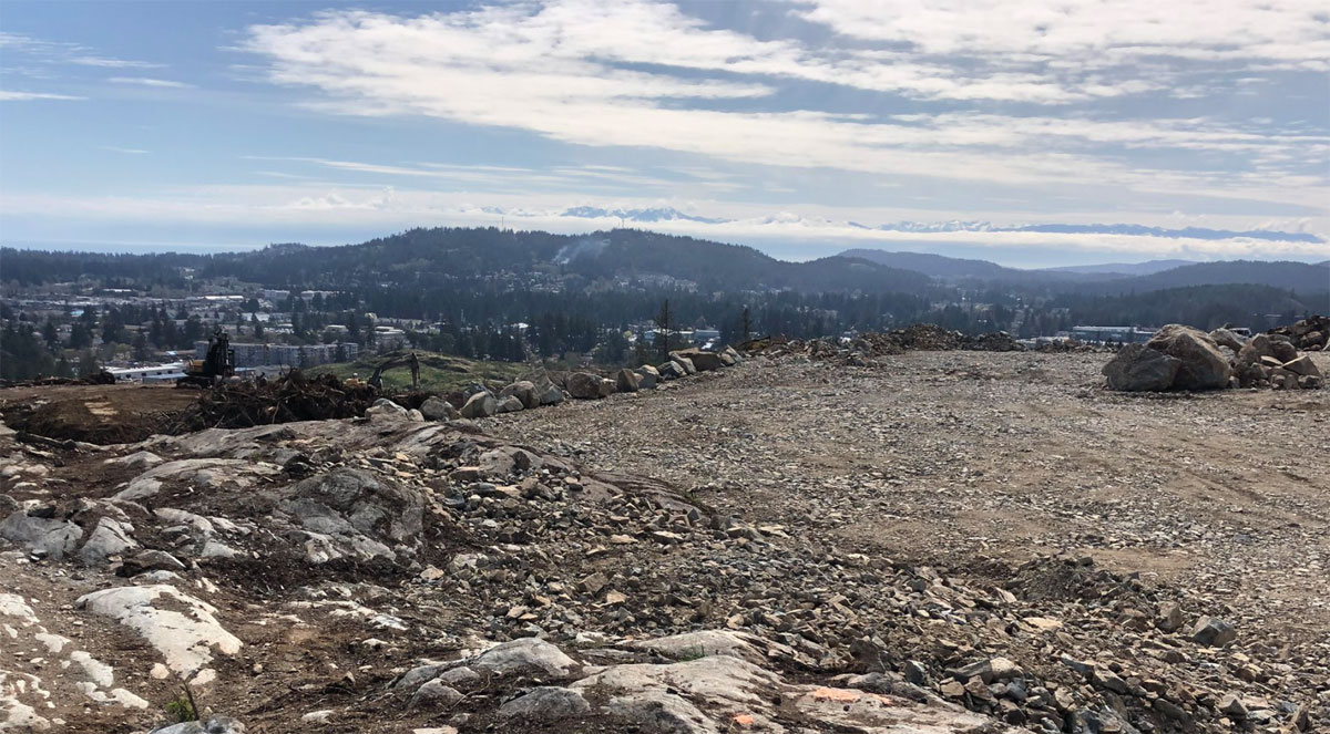 Future Bear Mountain/Skirt Mountain elementary school site prepped for construction