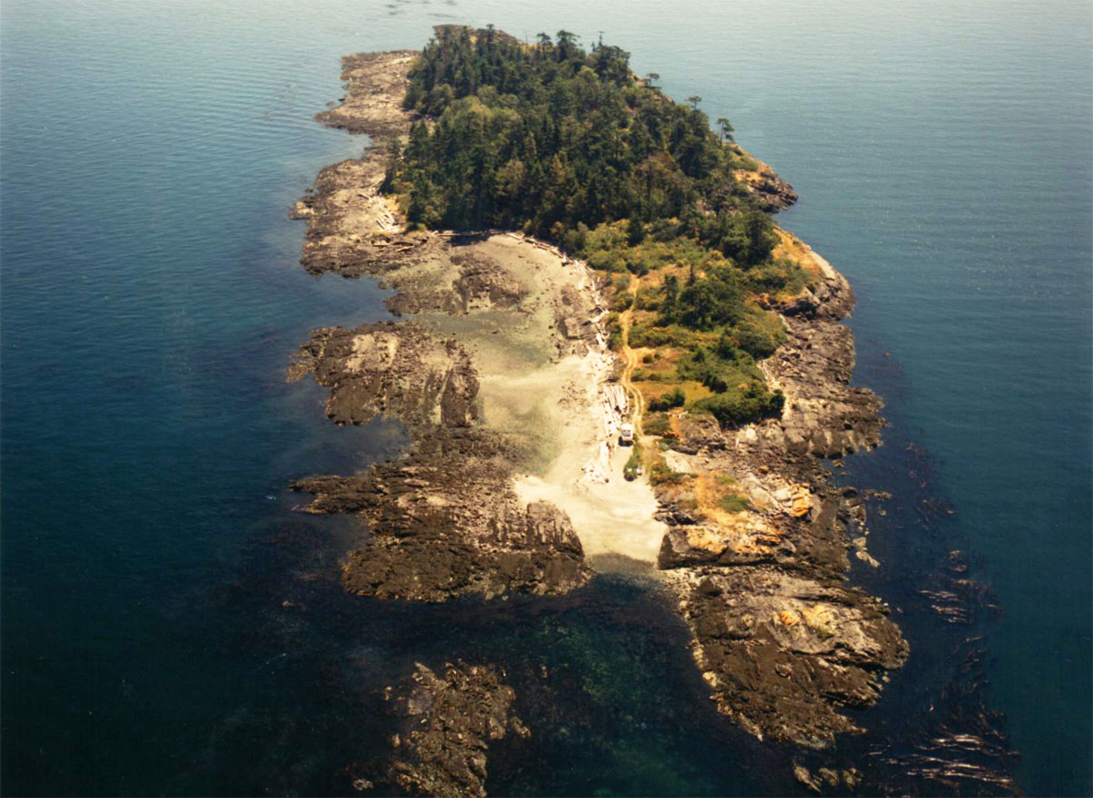 Private island off the coast of Victoria's Saanich Peninsula listed for sale at $2 million