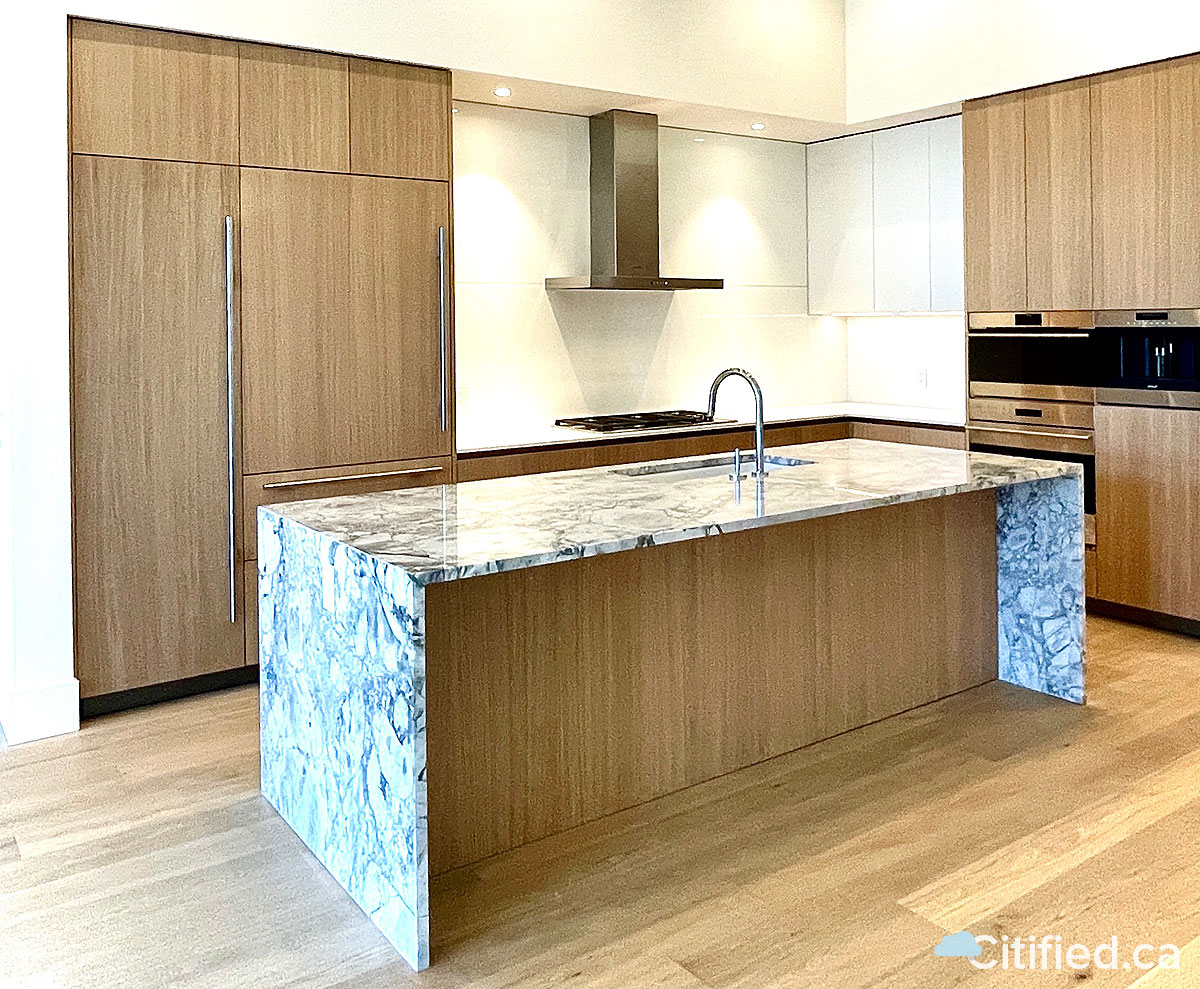 Newly completed kitchen.