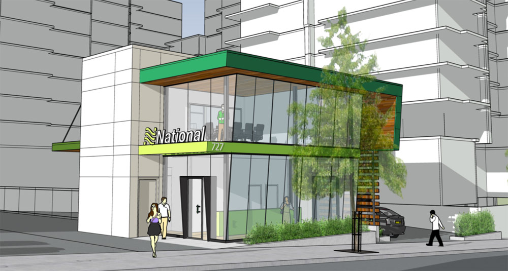 National Car Rental proposal, 727-733 Courtney Street