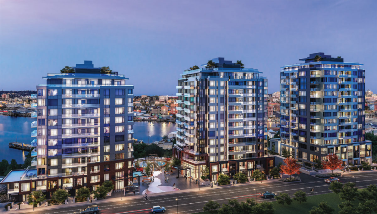 Environmentally-leading Dockside Green is back with three-tower new phase under construction