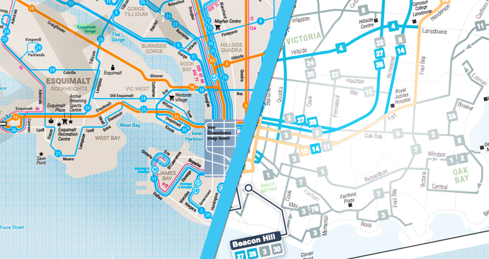 Must-see BC Transit route map released by Victoria graphics artist