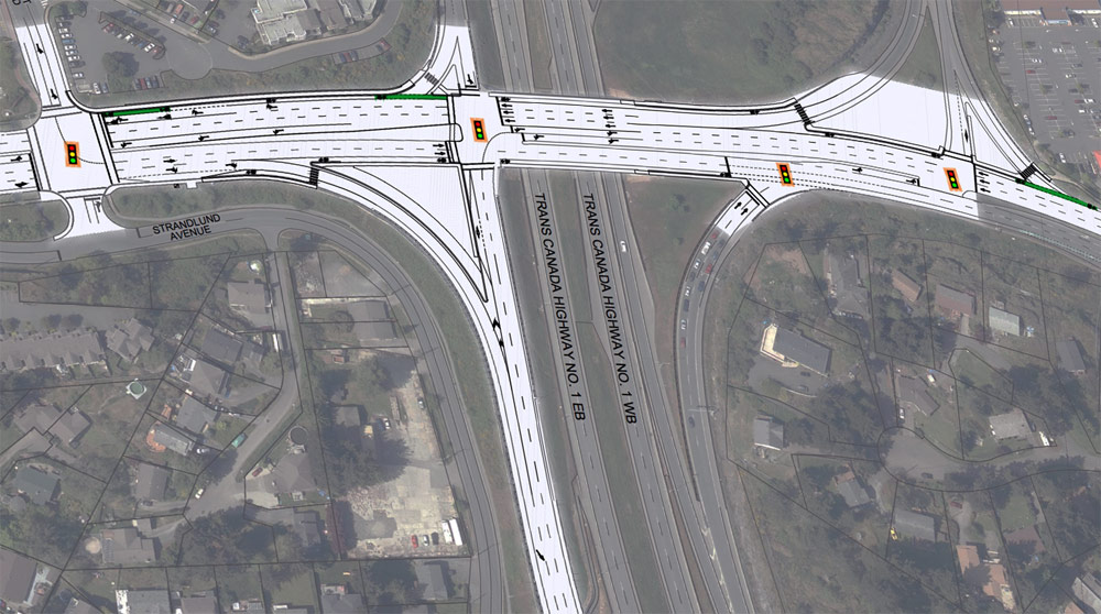 Langford's Millstream Road overpass improvements to start this month