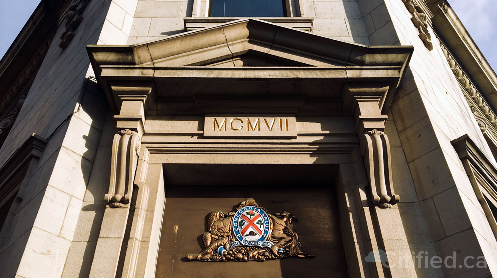 Downtown Victoria's iconic Bank of Montreal building listed for sale at $16 million