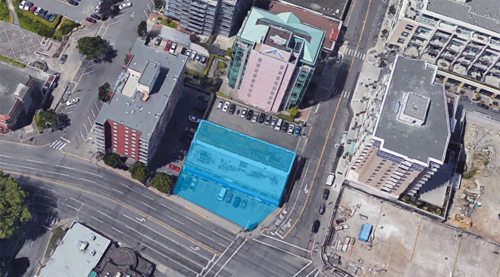 Parking lot pitched for Blanshard and Fisgard streets