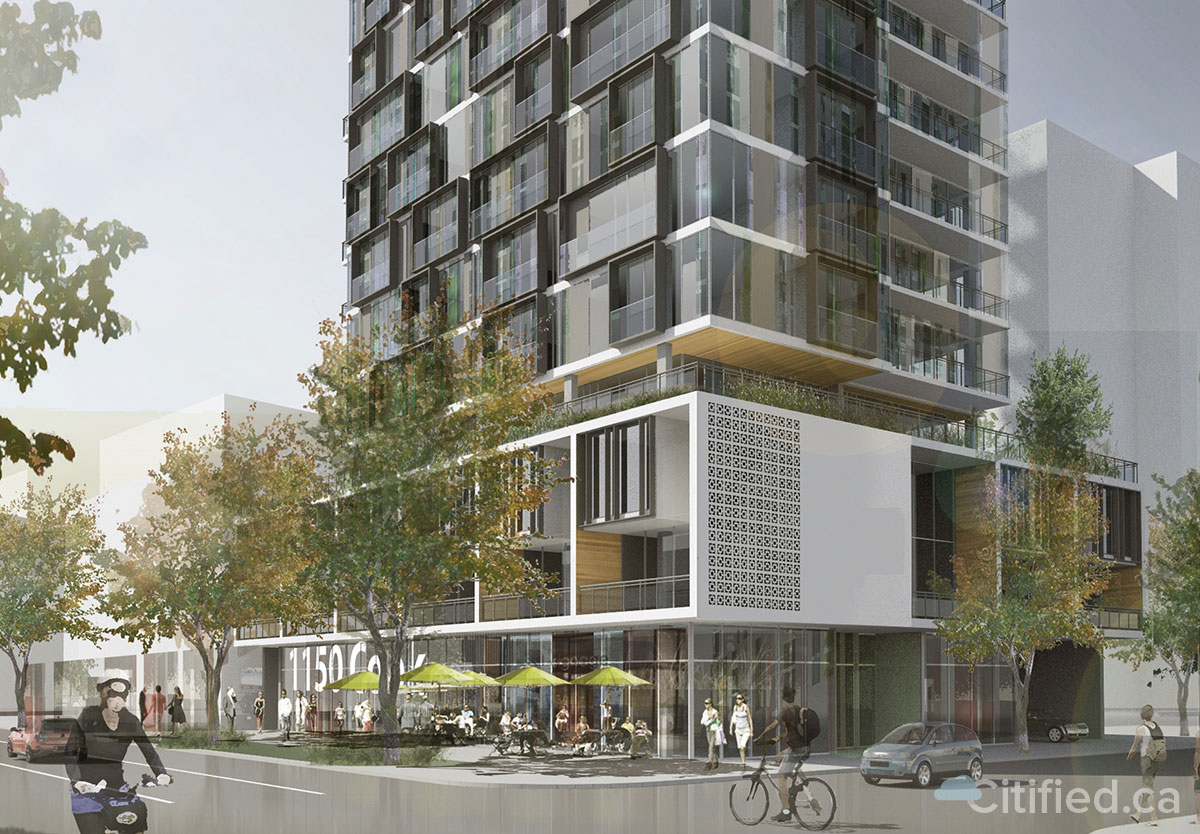 15-storey condominium tower envisioned for Pluto's Diner property at Cook and View streets