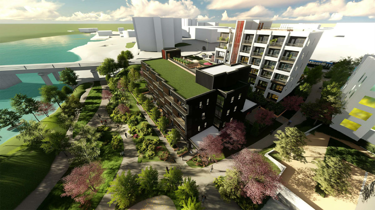 Final phase of Vic West's Railyards development re-envisioned once more, from single mid-rise condo to two buildings