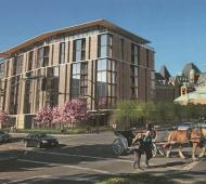 Luxury rentals slated to replace bus depot behind the Fairmont Empress Hotel