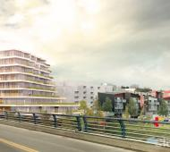 Nine-storey, 79-unit final phase of Vic West's Railyards community revealed