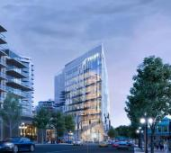 "10-storey TELUS Ocean concept revealed as ""alluring lantern"" for Douglas at Humboldt"
