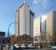 Construction starts on 23-storey Blanshard Street rental tower; marks final phase of downtown's Hudson District